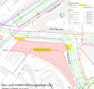 Umbau des Leipziger Dreiecks in Potsdam